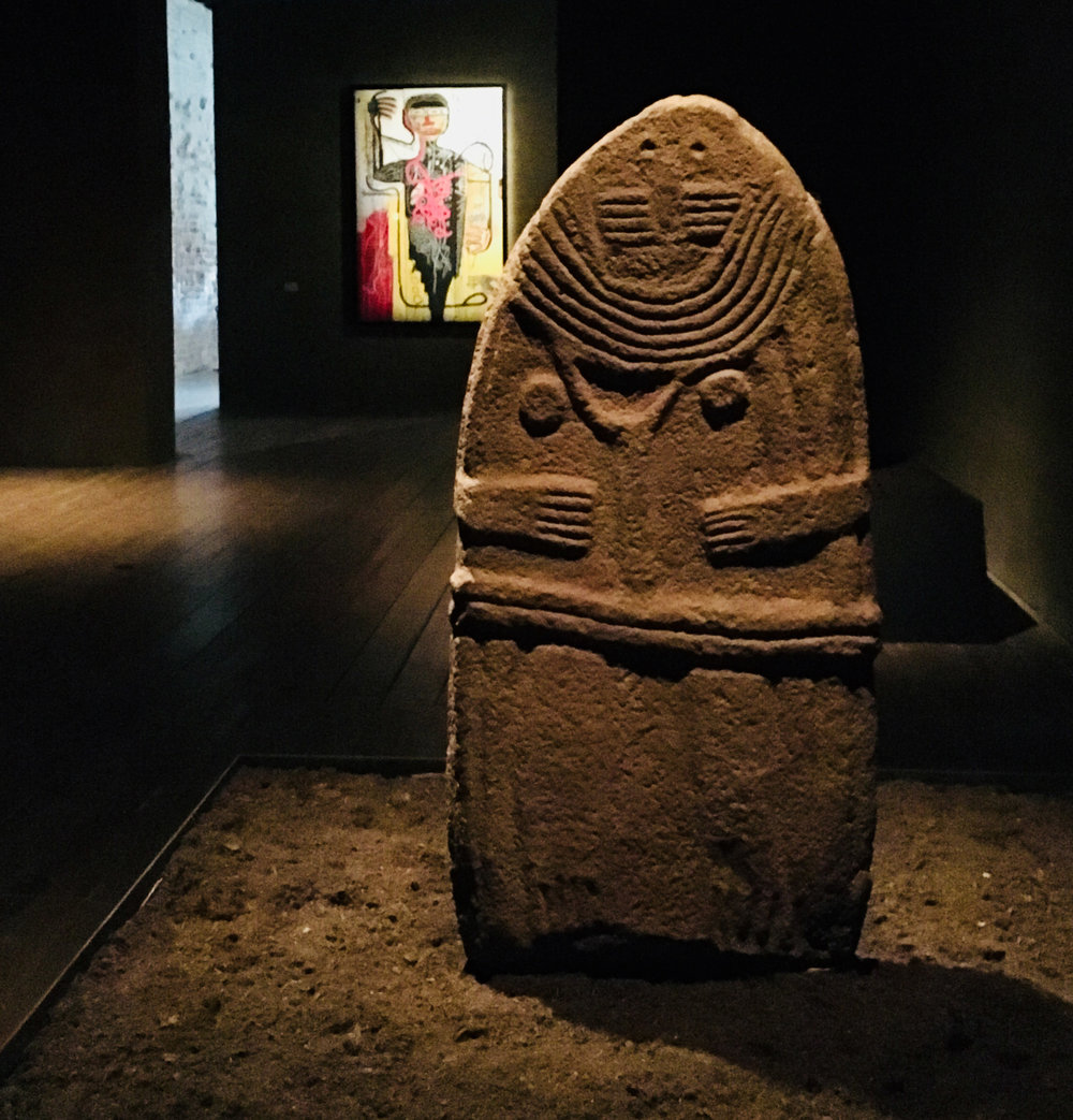 'Dame de Saint-Sernin', Statue-Menhir of a Female Figure, Saint-Sernin,Aveyron, Southern France, Late 4th-3rd millennium BC, Photo:LH
