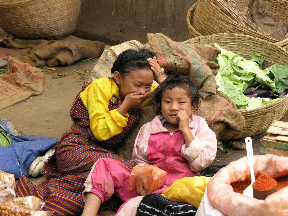 Two Girls in the Market  , Bhutan   Photo:LH