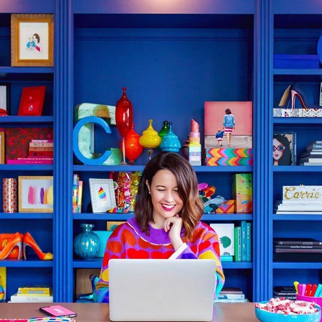 Happy Monday! Our favorite day of the week! If you need some #workspace inspo then go follow 👉🏼 @carriec because her office is made for a color queen! 💙 #morecolorplease  _ #influencer #influencermarketing #ootd #influencermanagement #contentmarketing #smallbusinessowner #bloggerstyle #blogger #fblogger #bblogger #office #fashionblogger #hustle #mycreativebiz #creativeentrepreneur #lifestyleblogger #styleblogger #bloggerlife #onmydesk