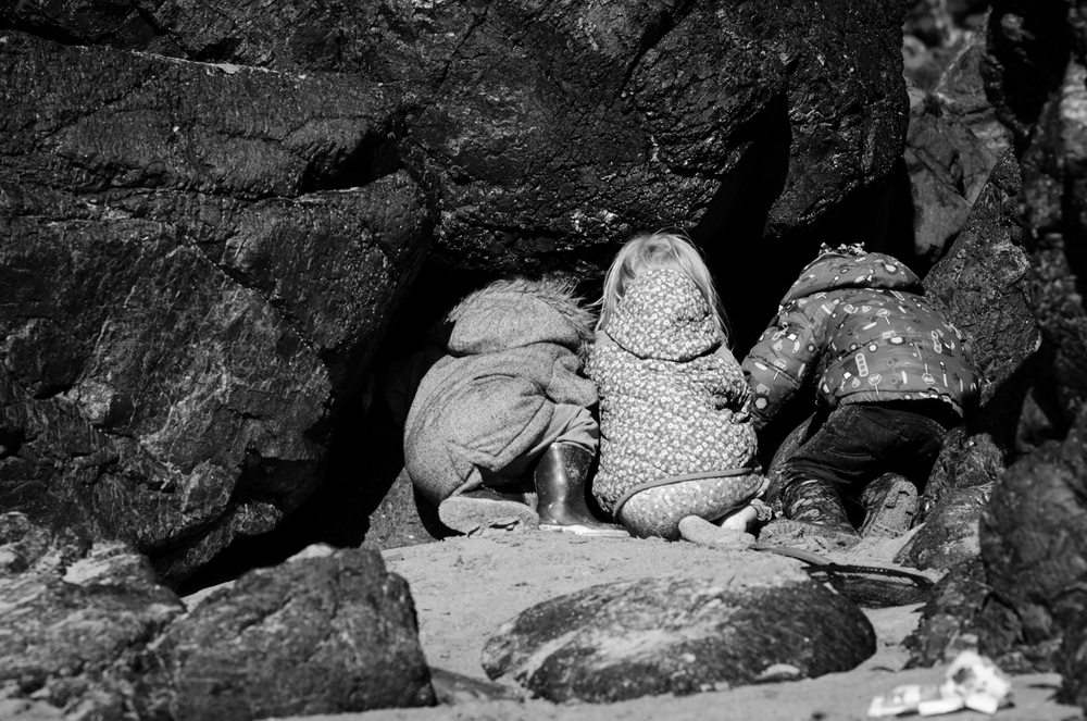 kids at kynance cove national trust lizard