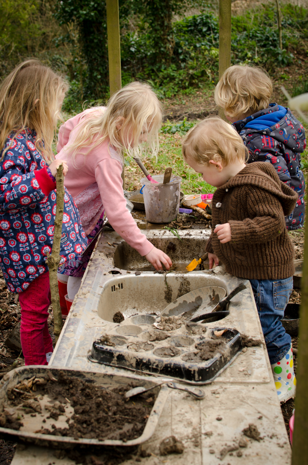 The mud kitchen at Godolphin House