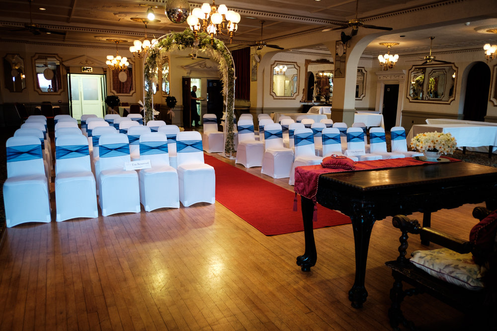 The ceremony hall in the Penventon Hotel