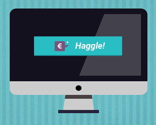 Haggle button