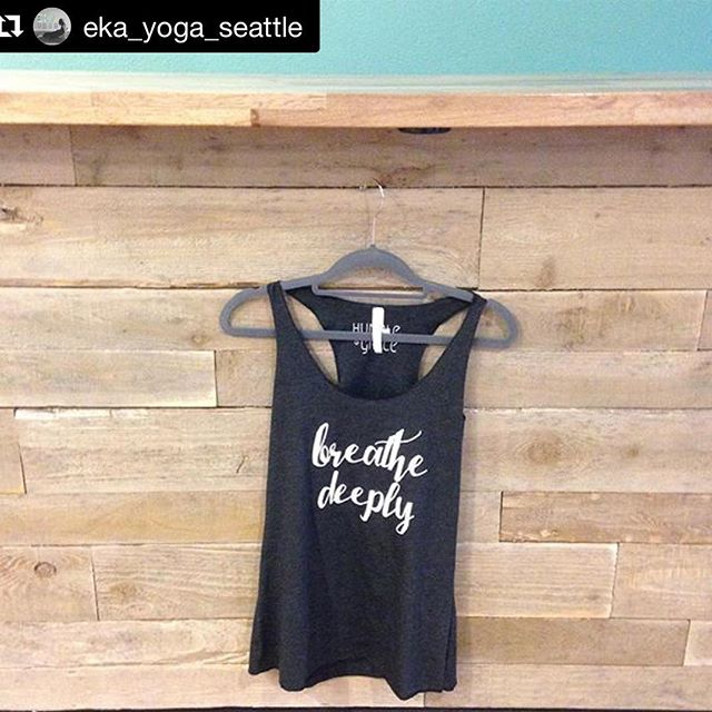 • Breath Deeply • We still have the lovely @humble_and_grace_ and their moment inspired wear hanging out at the studio. Stop by to check them out! 💜 • Racer Tanks $15 • Shirts/long sleeve $20 • Sweatshirts $30 . . . #seattle #seattleyoga #yogaapparel #breathdeep #momentinspiredwear #yogalifestyle #yogastudio #yogalove #queenanneseattle #youreworthit