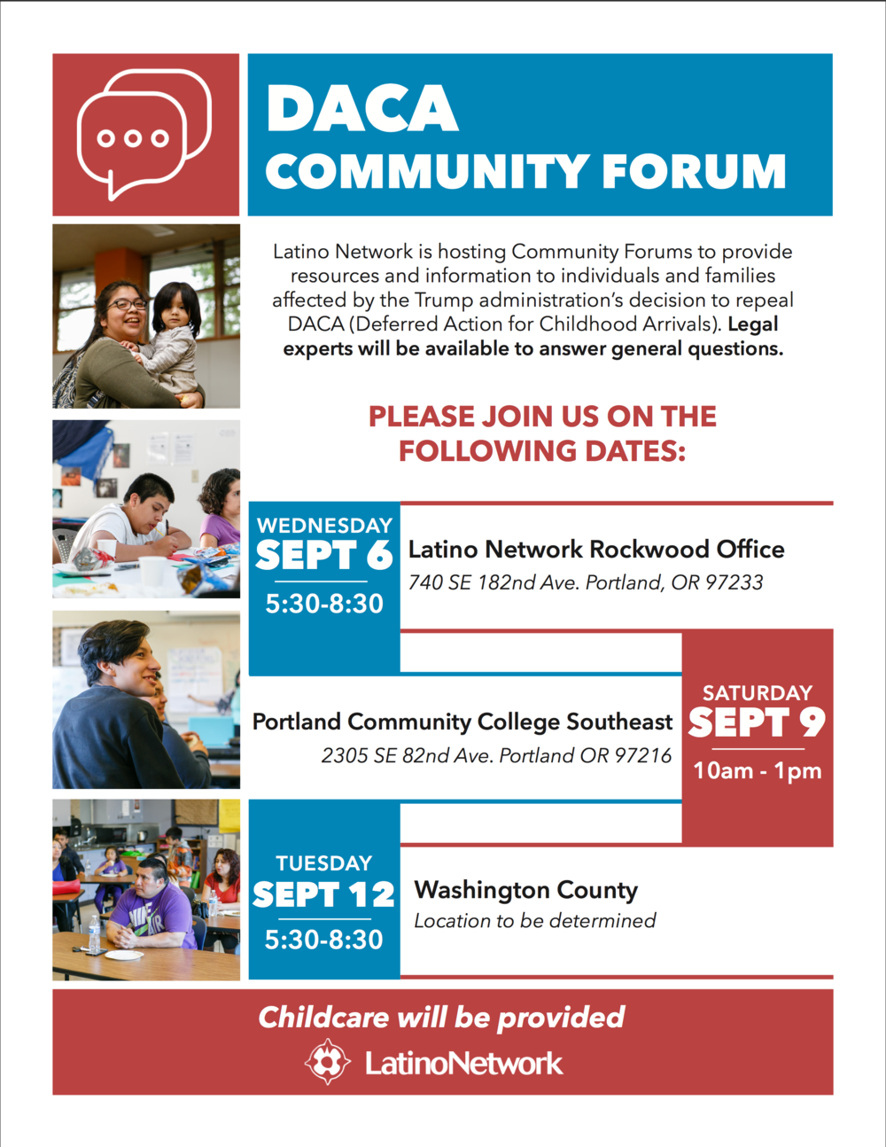 DACA Community Forum - Latino Network is hosting Community Forums
