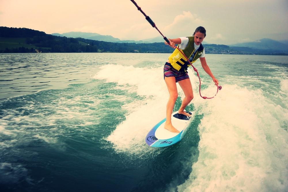 Naast skiën heb ik nog een passie: surfen!