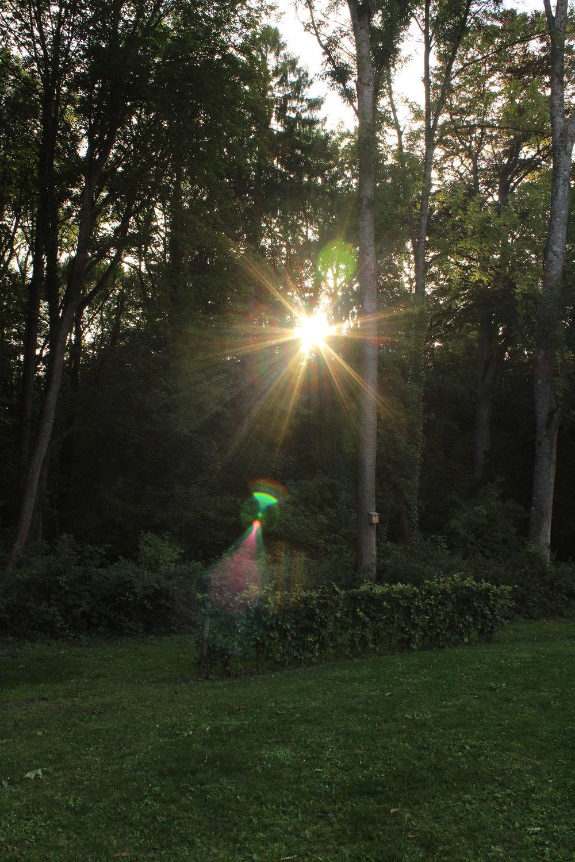zonsondergang ardennen