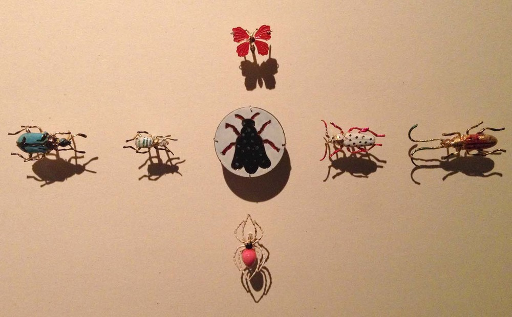 Antique insect buttons
