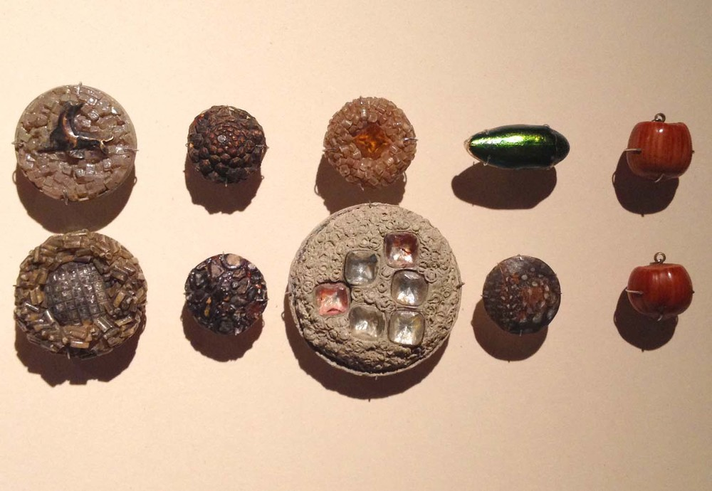 antique resin buttons