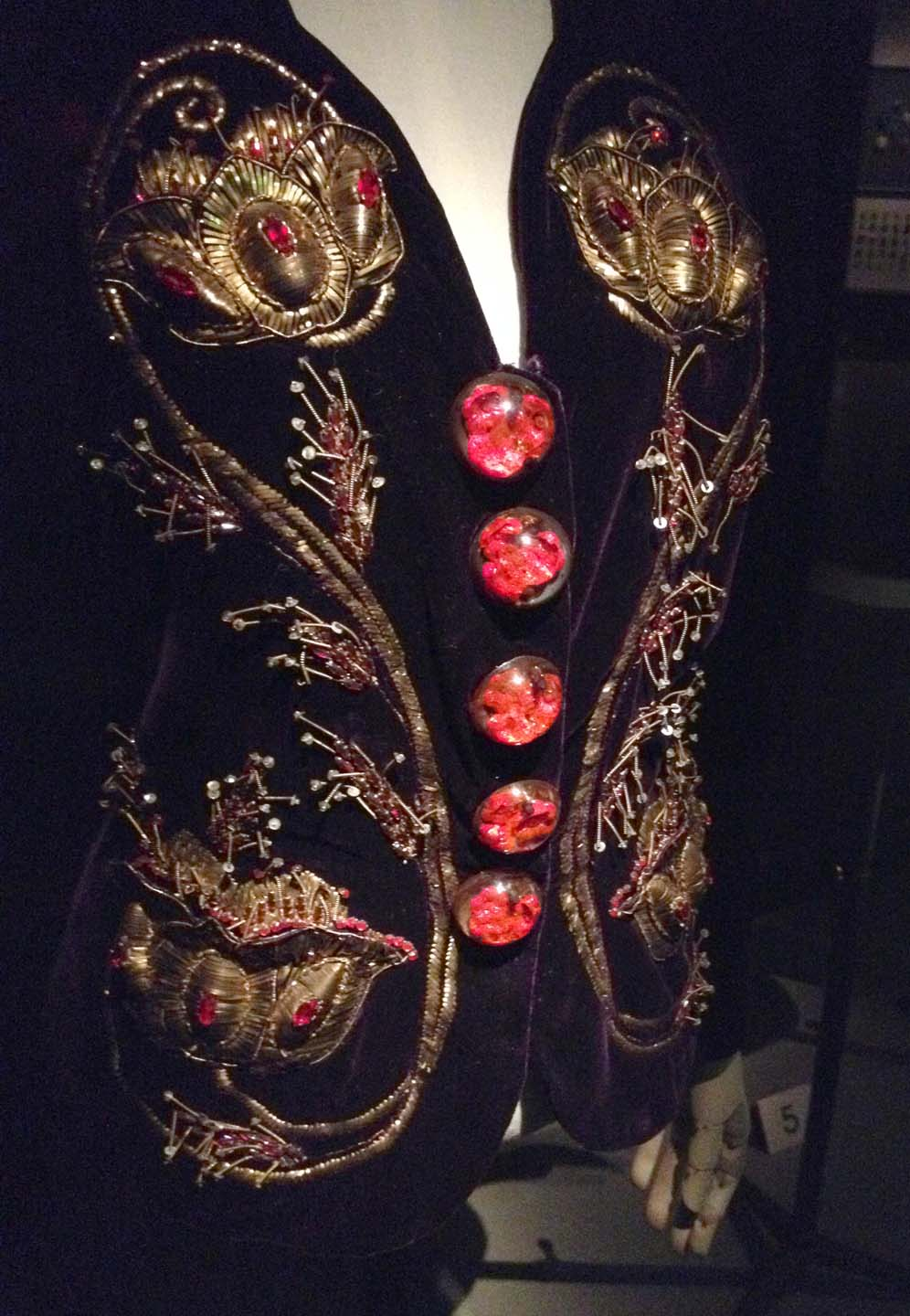 Spanish influenced velvet embroidered jacket