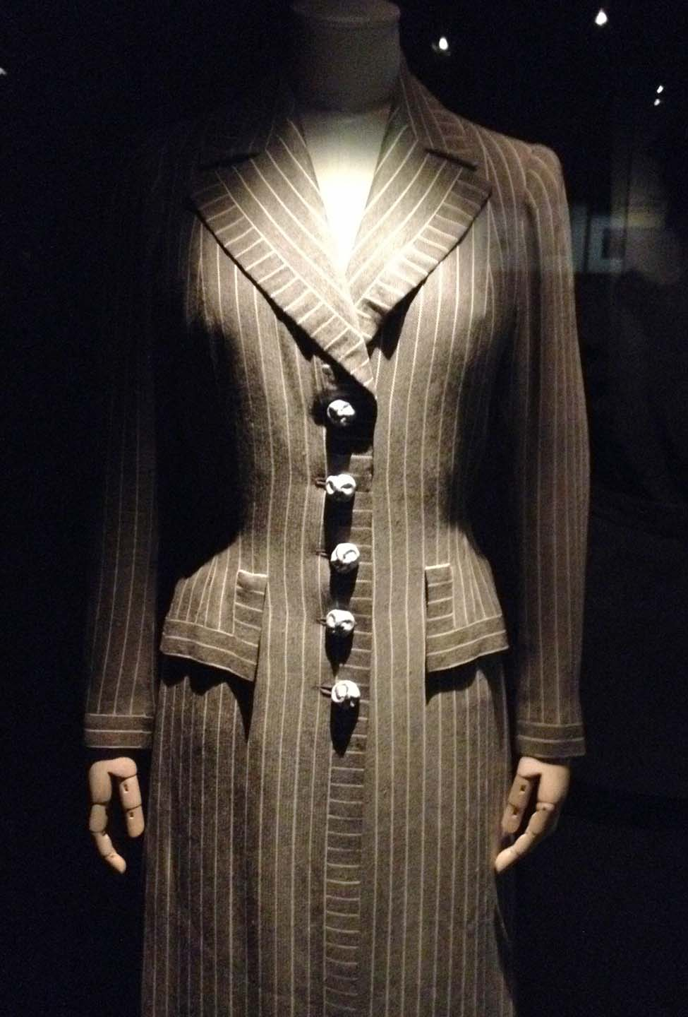 Sophisticated 20th Century pinstripe suit dress