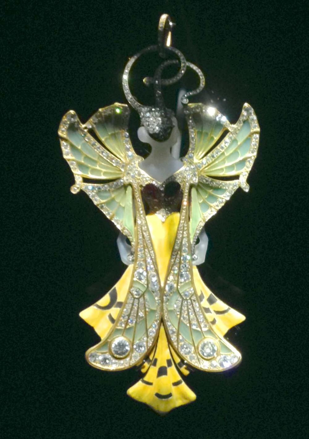 Art nouveau Fairy pendant