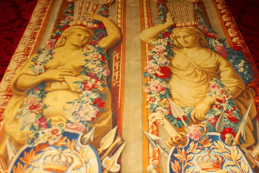 Wall tapestries at Versailles