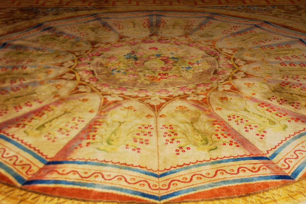 Large round carpet at Versailles