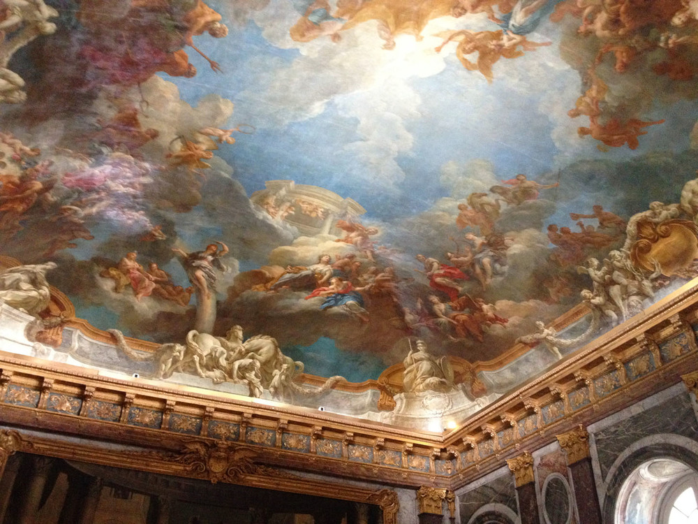 Painted ceiling at Versailles
