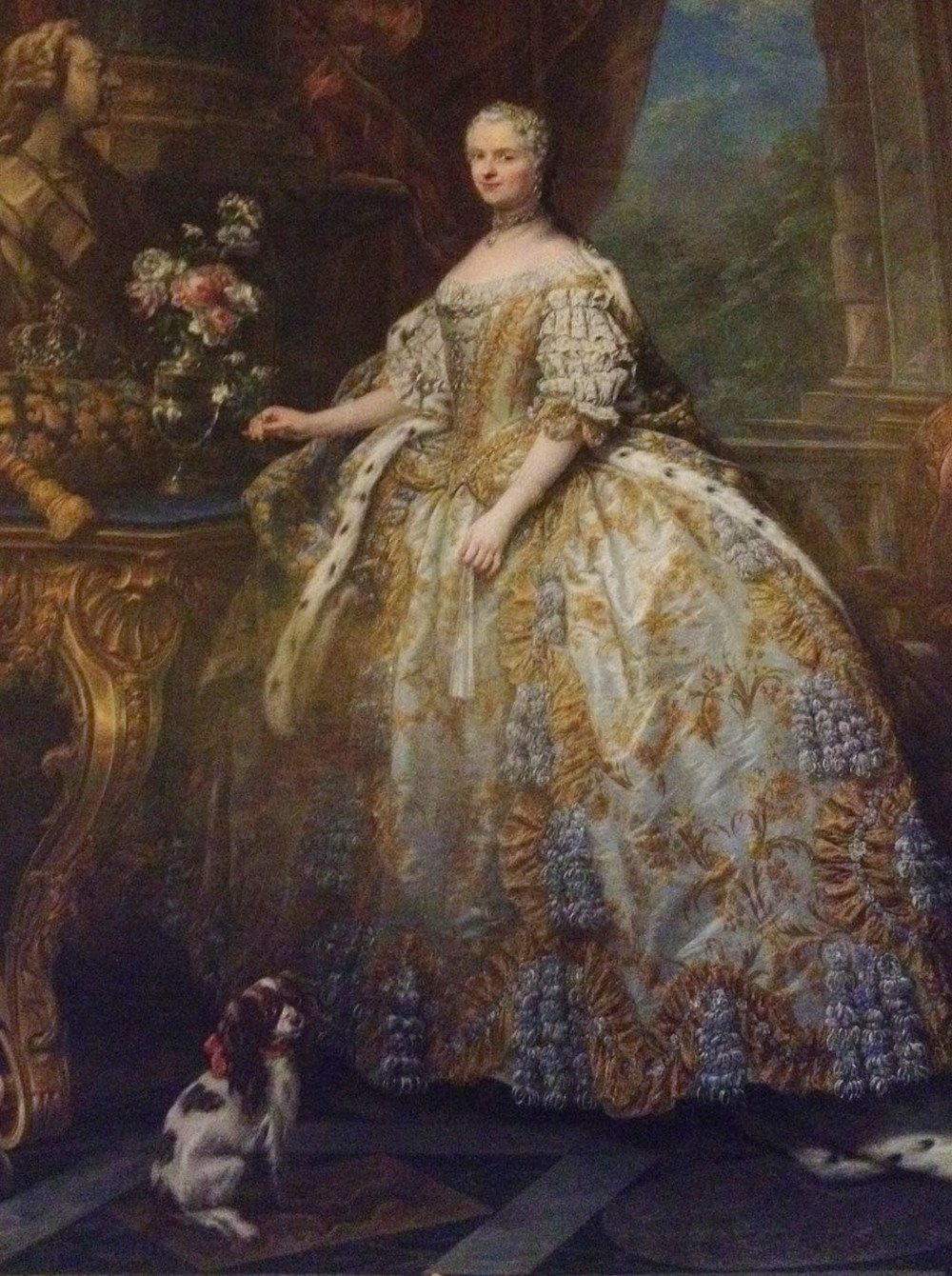 Royal portrait with Spaniel at Versailles