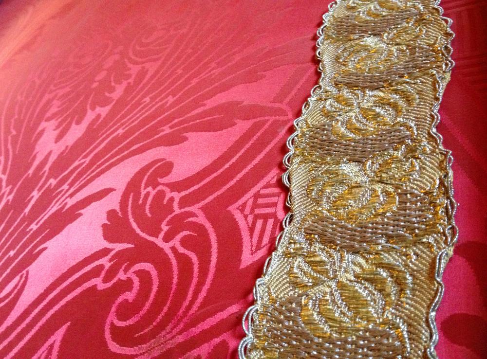 Velvet wall detail