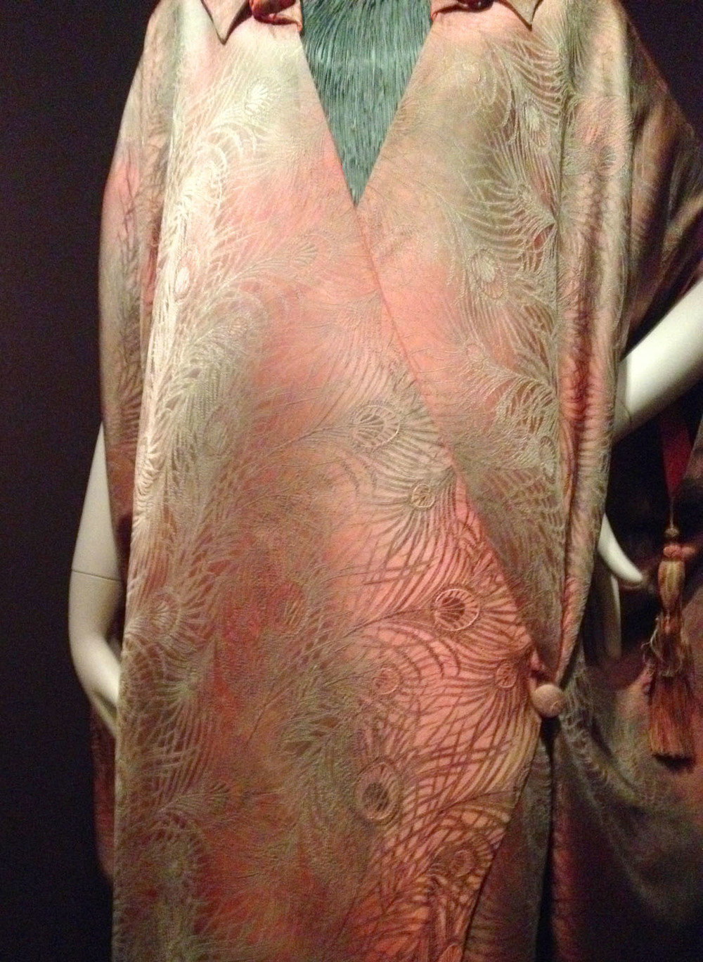 Silk brocade detail