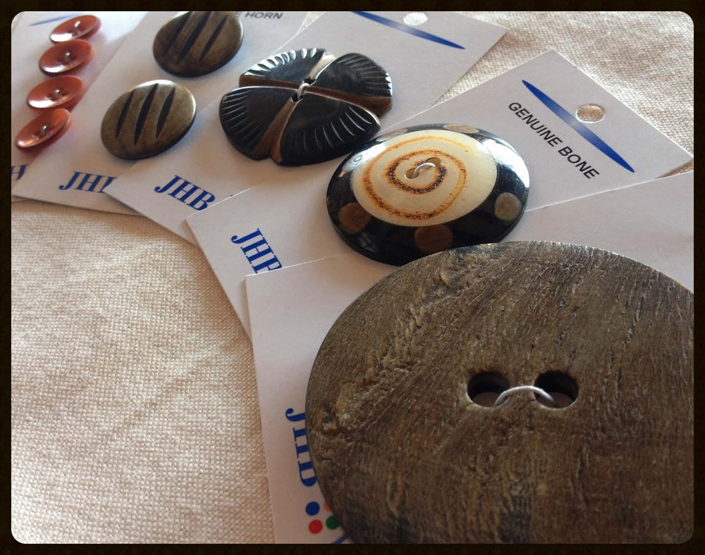 Coconut and horn buttons
