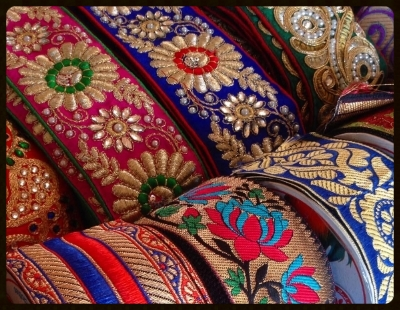 Embellishment and color dominate the Indian fashion, embroidered trims add the perfect accent to women's clothing.