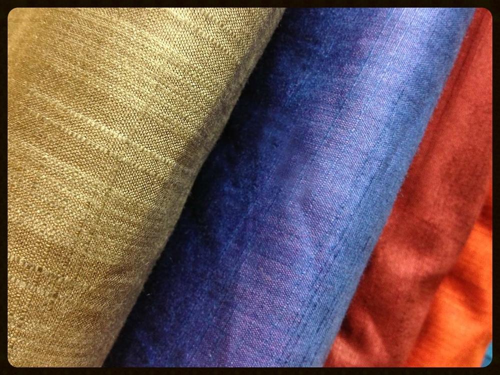 Indian silk fabrics