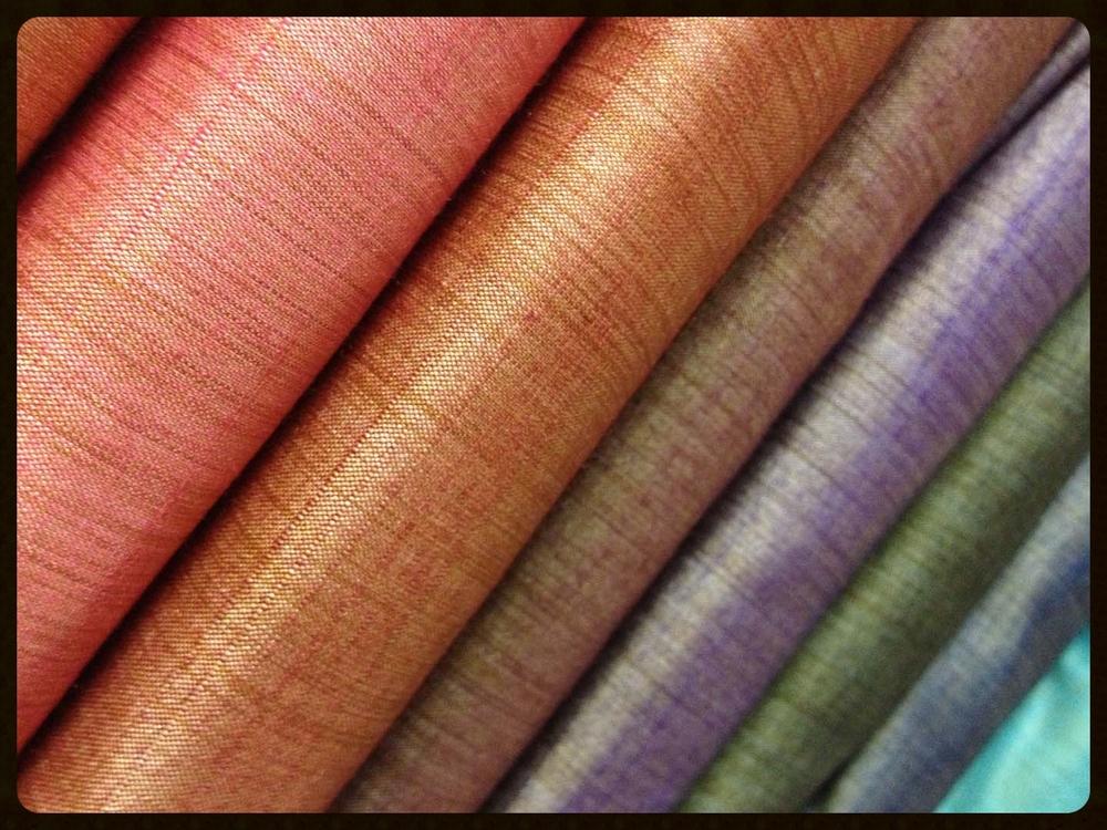 Shot silk fabrics