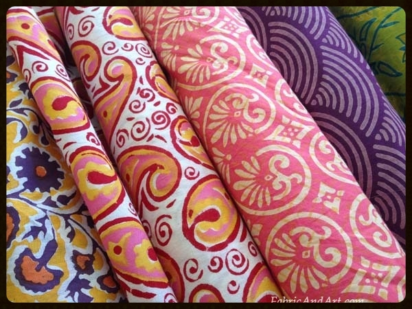 Blockprinted fabrics