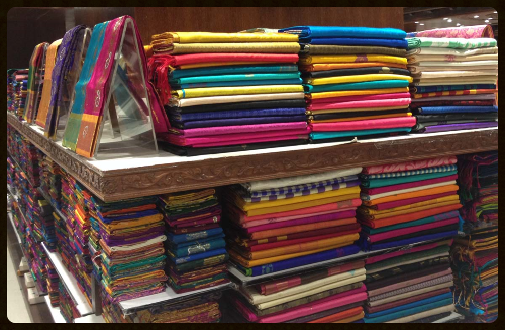 Silks and cottons all alight with colors, textures, weaves and prints. So many to choose from, where does one begin?