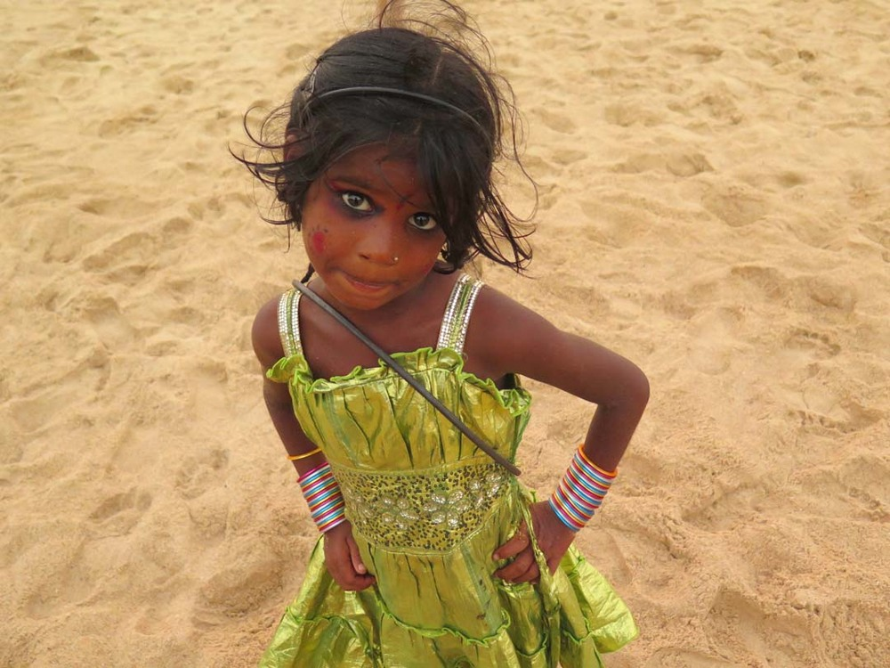 Gypsy girl, Baga Beach, Goa