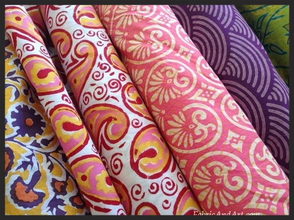 Visit our selection of Indian blockprinted fabrics