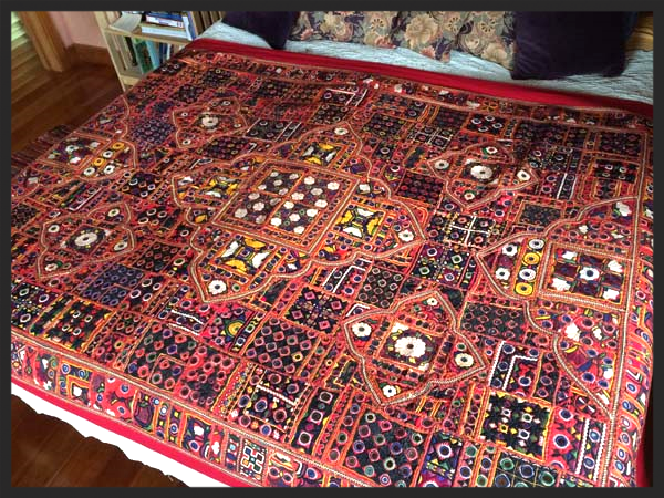 Hand made quilts, amazing embroidery and piecework, often made with vintage textiles, visit our site to see the gallery and details.