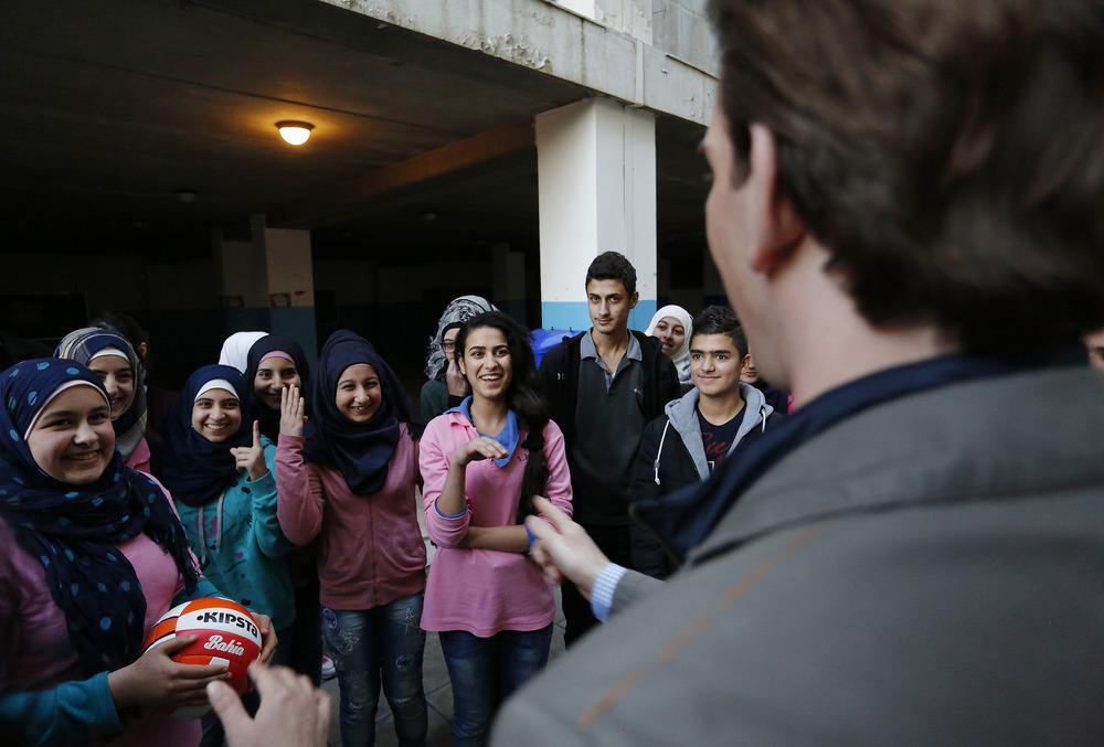 "Arbeitsbesuch Libanon. BM Sebastian Kurz. Besuch der gemischten Schule ""Ibtihaj Kaddoura"". 09.01.2016, Foto: Dragan Tatic"