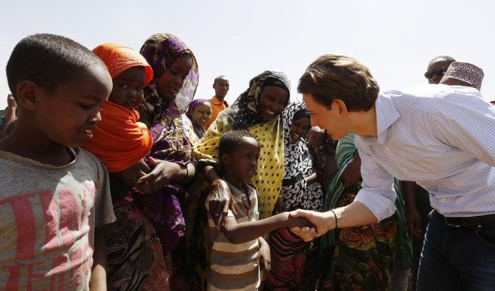 Arbeitsbesuch Äthiopien: Bundesminister Sebastain Kurz besucht ein somalisches Flüchtlingslager. 1. Februar 2016. Photo: Dragan Tatic