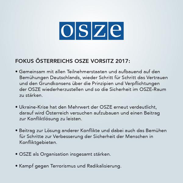 Schwerpunkte OSZE 2017.Bild: Jürgen Gabriel.