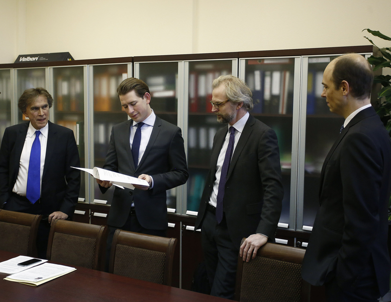 Außenminister Sebastian Kurz in Moskau. 17. Jänner 2017. Photo: Dragan Tatic