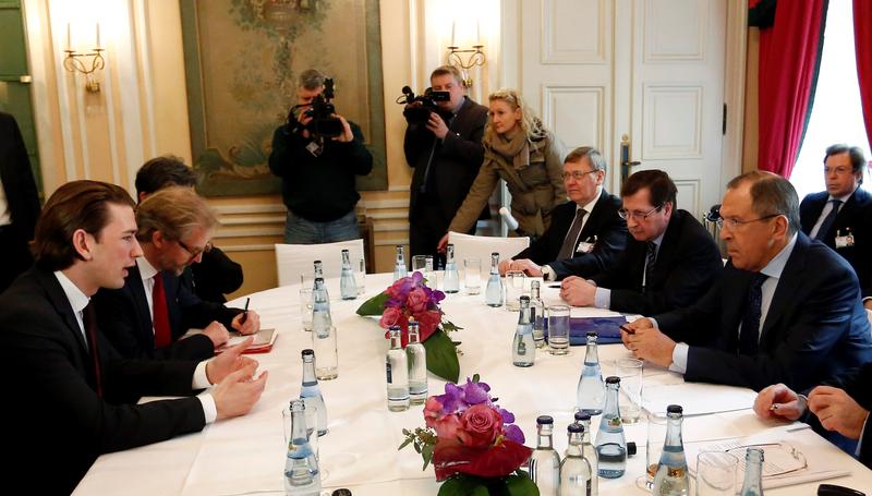 Sebastian Kurz trifft den russischen Außenminister.  Photo: Dragan Tatic