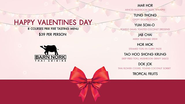 Valentine's menu ❤️❤️❤️ please contact us for enquiries. ***Reservation is required***