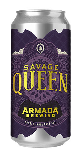 Savage Queen Double IPA 8% 70 IBU  Pillowy DIPA Double Dry Hopped with Rakau, Mosaic and El Dorado hops.