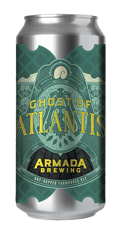 Ghost of Atlantis Dry-Hopped Farmhouse Ale 6% 30 IBU  Saison Dryhopped with German Mandarina Bavaria, and German Huell Melon