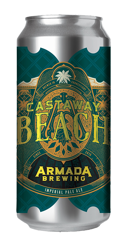 Castaway Beach Imperial Pale Ale 7.5% 70 IBU  Big and bold hazy pale double dry-hopped with Citra and Amarillo hops