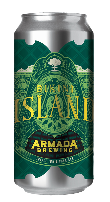 Bikini Island Triple India Pale Ale 10% 100+ IBU  A true hop bomb. Single hopped with just Mosaic. Contains Lactose