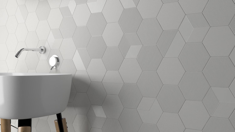 P T817 Mini Hexa Canale Subwaylab Ceramic Wall Tile Palette Town