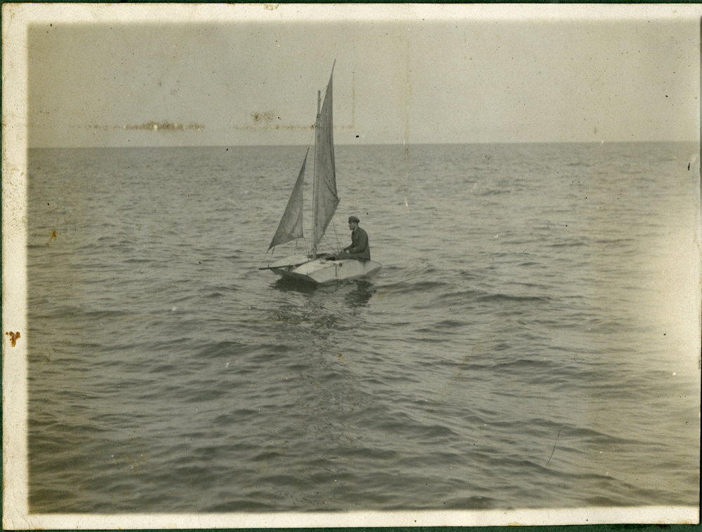 """""""Aird in his sail boat"""""""