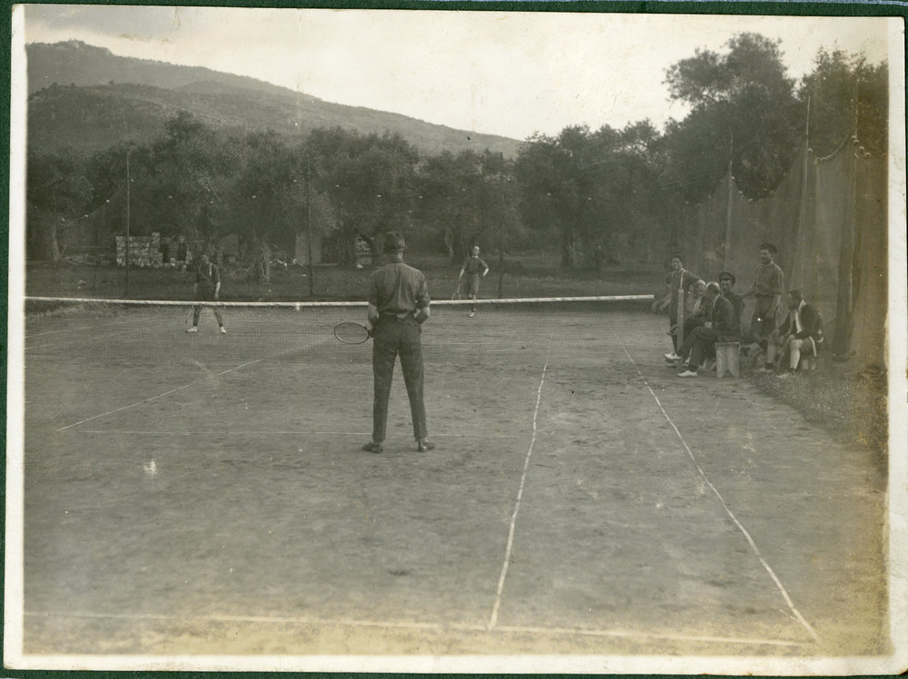 """On the courts at Thasos"""