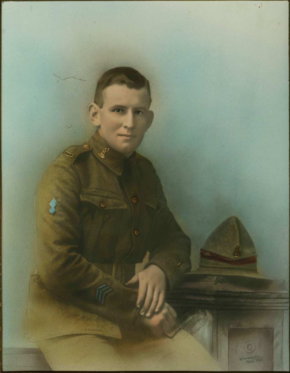 John Leo O'Keefe - this is one of several large colour portraits of John Leo O'Keefe.