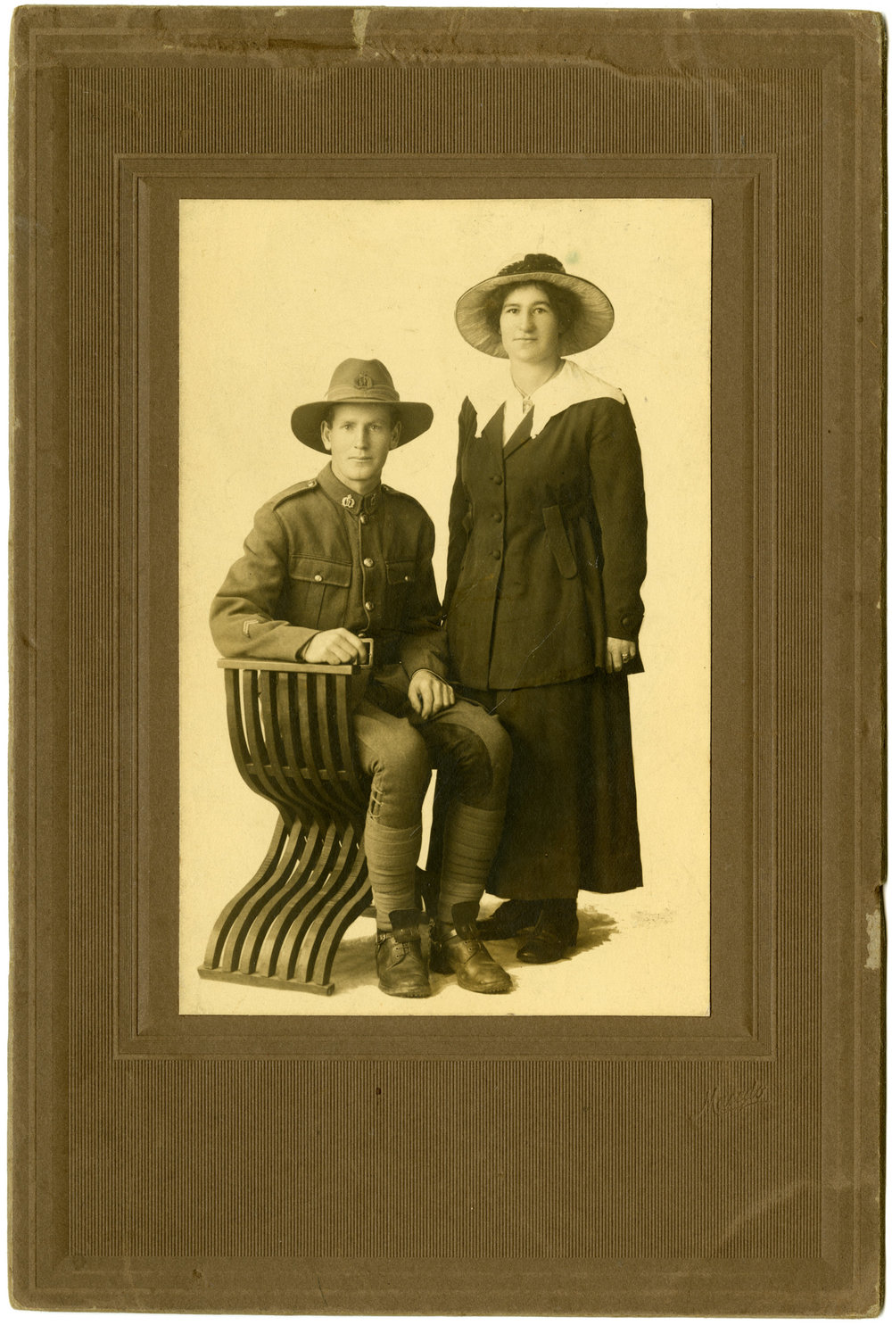 Gilbert Edison Rose with wife Mary Constance Cecile Hinkley. They married in 1916.