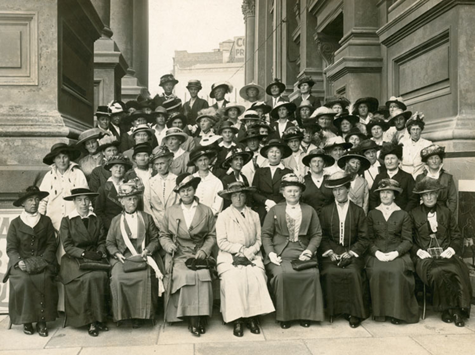 A meeting of the Lady Liverpool fundraisers in Wellington. Elizabeth Nash is first on the left in the front row.