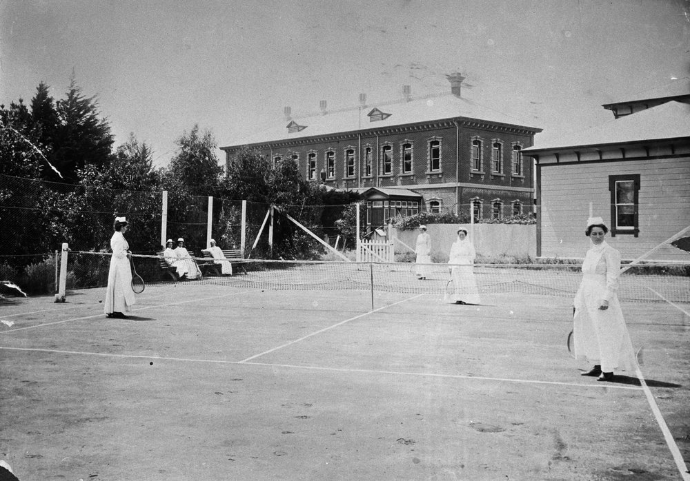 The Palmerston North Hospital around the time of World War One.