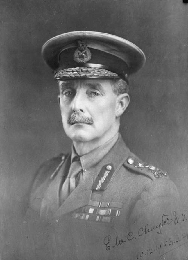 Figure 4:  Major General Sir Edward Walter Clervaux Chaytor, 1919.  Reference: Alexander Turnbull Library, War History Collection (PAColl-4161 - 1/1-013282; F)