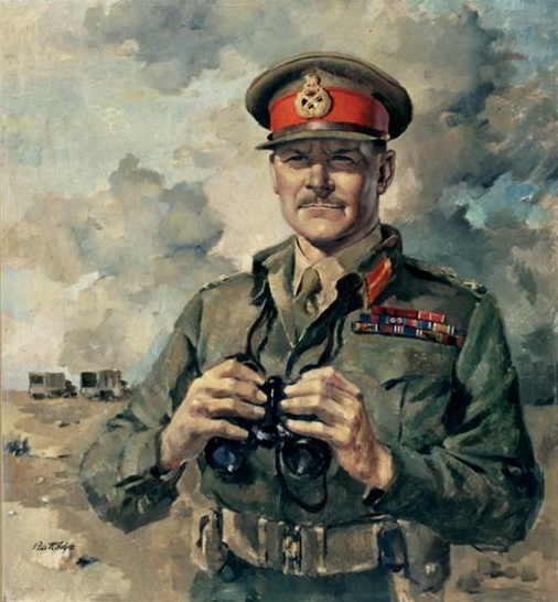 "Figure 3: Painting by Peter McIntyre (March 1943) entitled, ""Major General Sir Bernard Freyberg, VC"". Reference: Archives New Zealand/Te Rua Mahara o te Kāwanatanga Wellington Office [Archives Reference: AAAC 898 NCWA 15]"